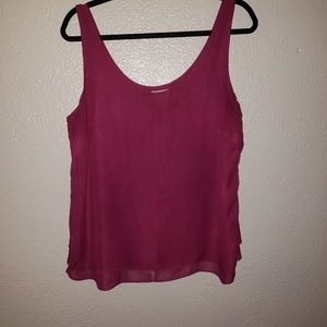 Deep pink old navy tank top size large
